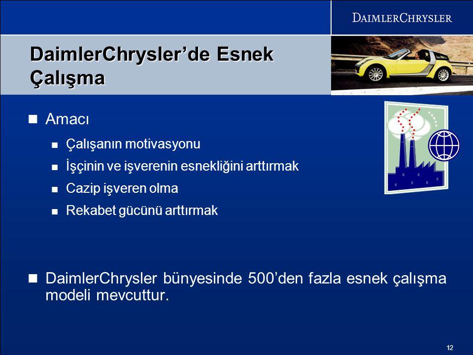 DaimlerChrysler'de Esnek Çalışma