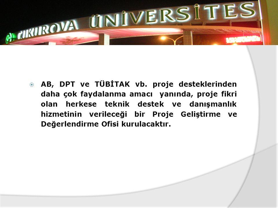 AB, DPT ve TÜBİTAK vb.