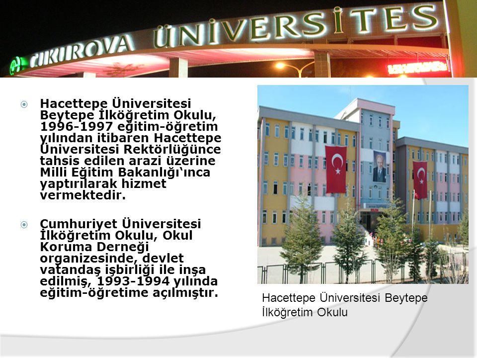 Hacettepe Üniversitesi Beytepe İlköğretim Okulu, 1996-1997 eğitim-öğretim yılından itibaren Hacettepe Üniversitesi Rektörlüğünce tahsis edilen arazi üzerine Milli Eğitim Bakanlığı'ınca yaptırılarak hizmet vermektedir.