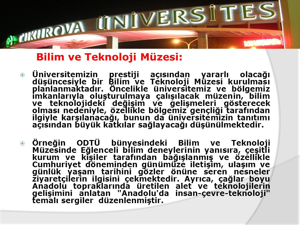 Bilim ve Teknoloji Müzesi: