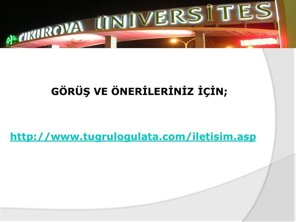 GÖRÜŞ VE ÖNERİLERİNİZ İÇİN; http://www.tugrulogulata.com/iletisim.asp