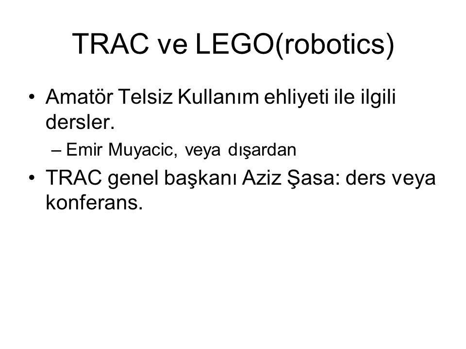 TRAC ve LEGO(robotics)