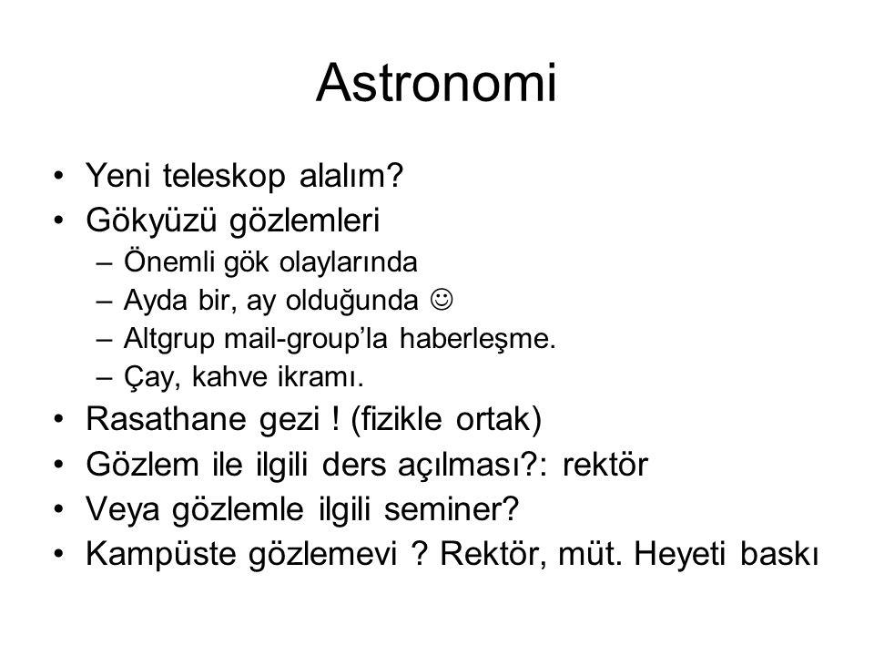 Astronomi Yeni teleskop alalım Gökyüzü gözlemleri