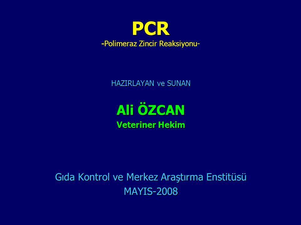 PCR -Polimeraz Zincir Reaksiyonu-
