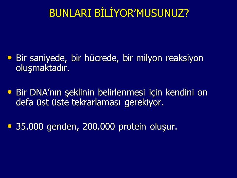 BUNLARI BİLİYOR'MUSUNUZ