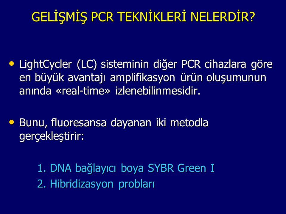 GELİŞMİŞ PCR TEKNİKLERİ NELERDİR