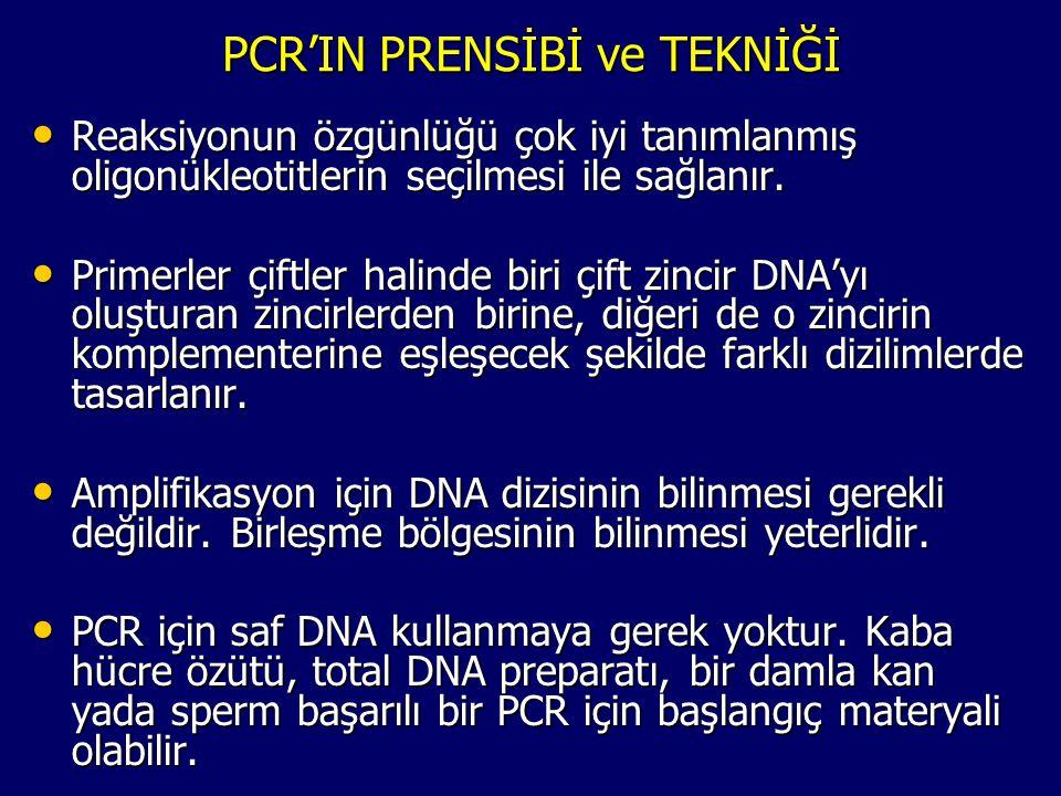 PCR'IN PRENSİBİ ve TEKNİĞİ