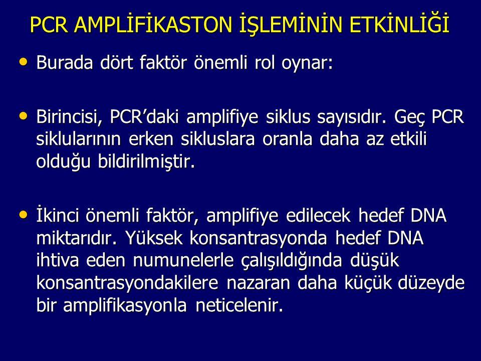 PCR AMPLİFİKASTON İŞLEMİNİN ETKİNLİĞİ