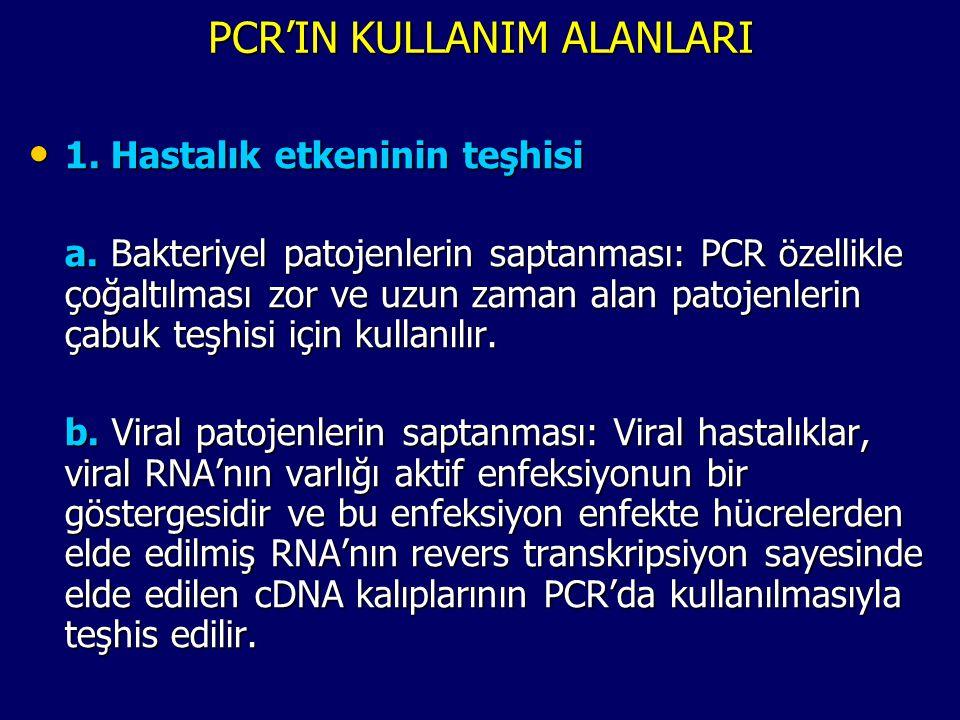 PCR'IN KULLANIM ALANLARI