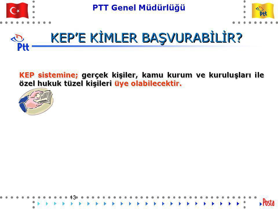 KEP'E KİMLER BAŞVURABİLİR