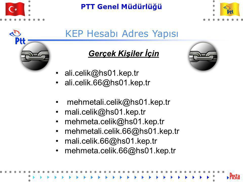KEP Hesabı Adres Yapısı