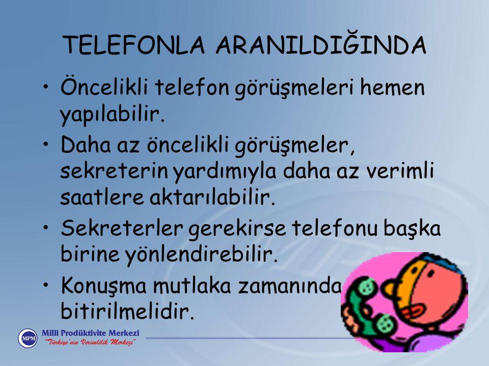 TELEFONLA ARANILDIĞINDA