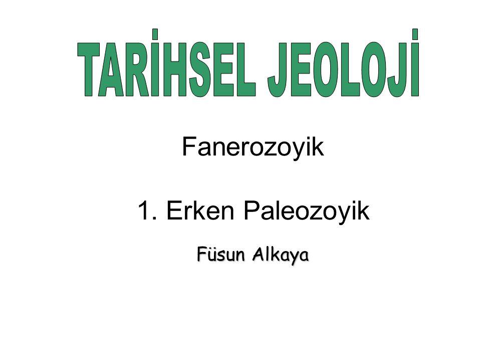 TARİHSEL JEOLOJİ Fanerozoyik 1. Erken Paleozoyik Füsun Alkaya