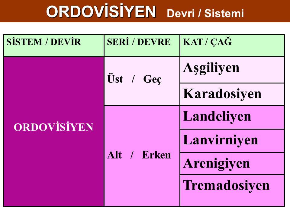 ORDOVİSİYEN Devri / Sistemi