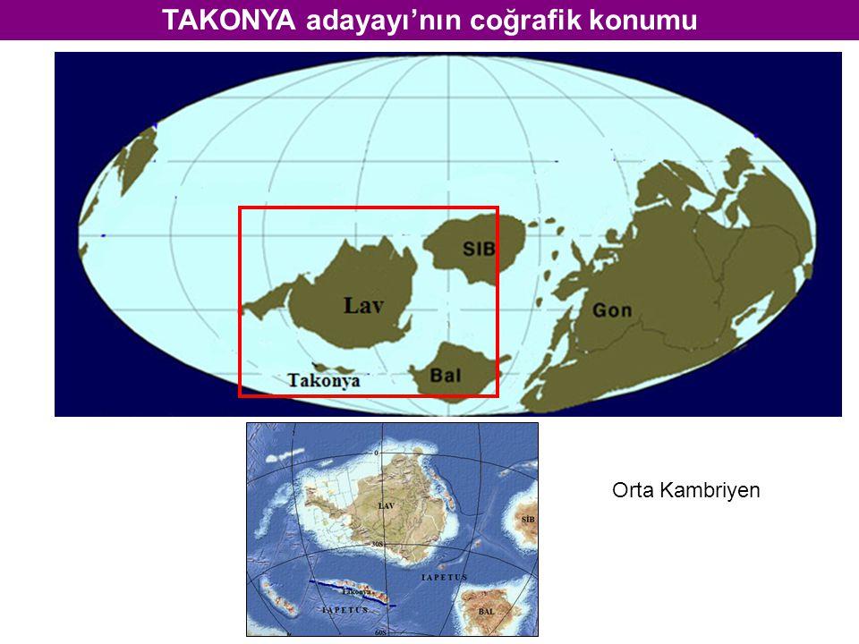 TAKONYA adayayı'nın coğrafik konumu