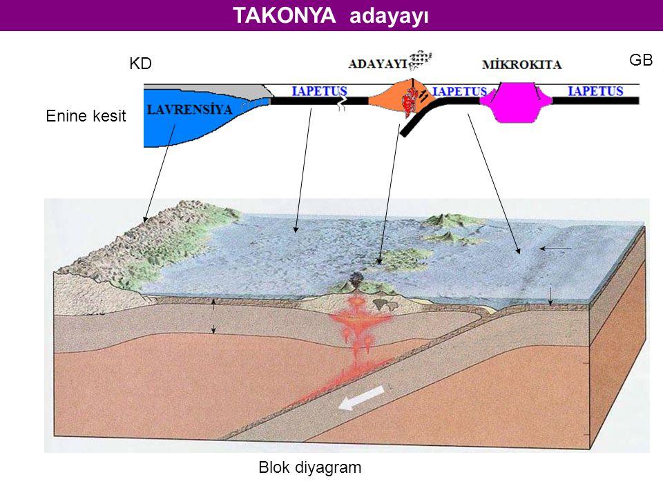 TAKONYA adayayı KD GB Enine kesit Blok diyagram