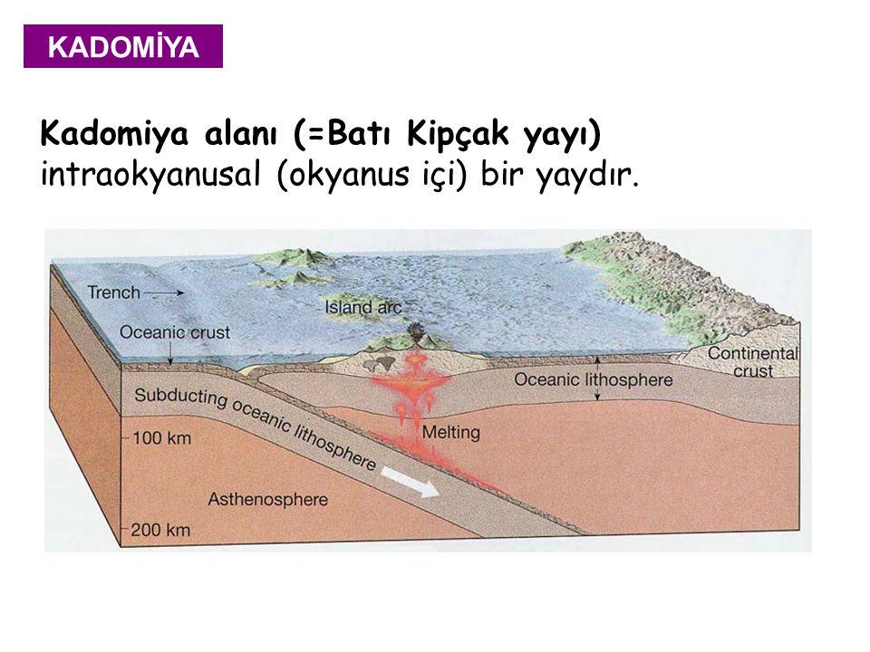 KADOMİYA Kadomiya alanı (=Batı Kipçak yayı) intraokyanusal (okyanus içi) bir yaydır.
