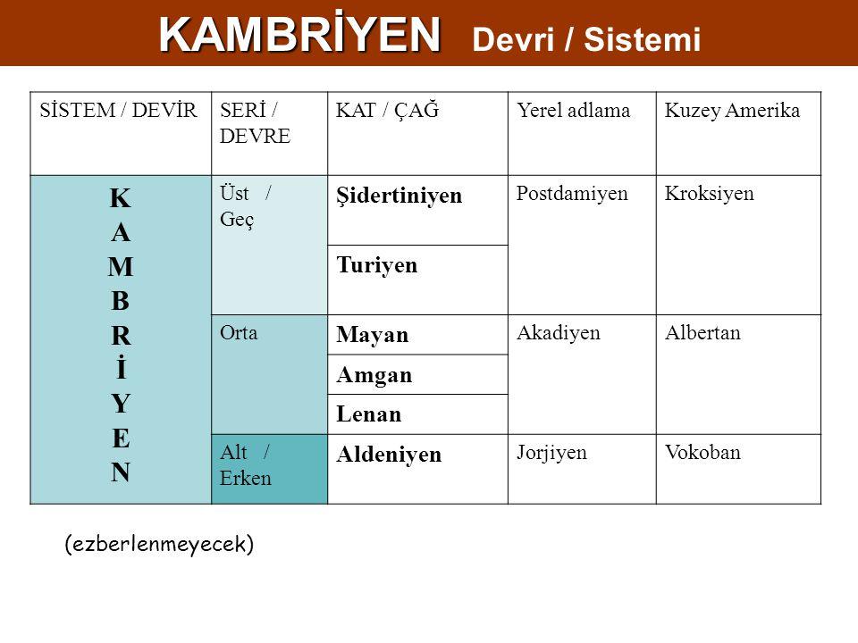 KAMBRİYEN Devri / Sistemi