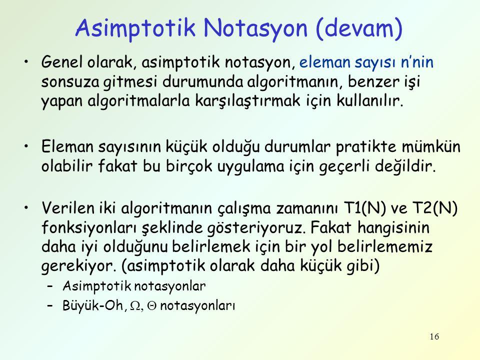 Asimptotik Notasyon (devam)