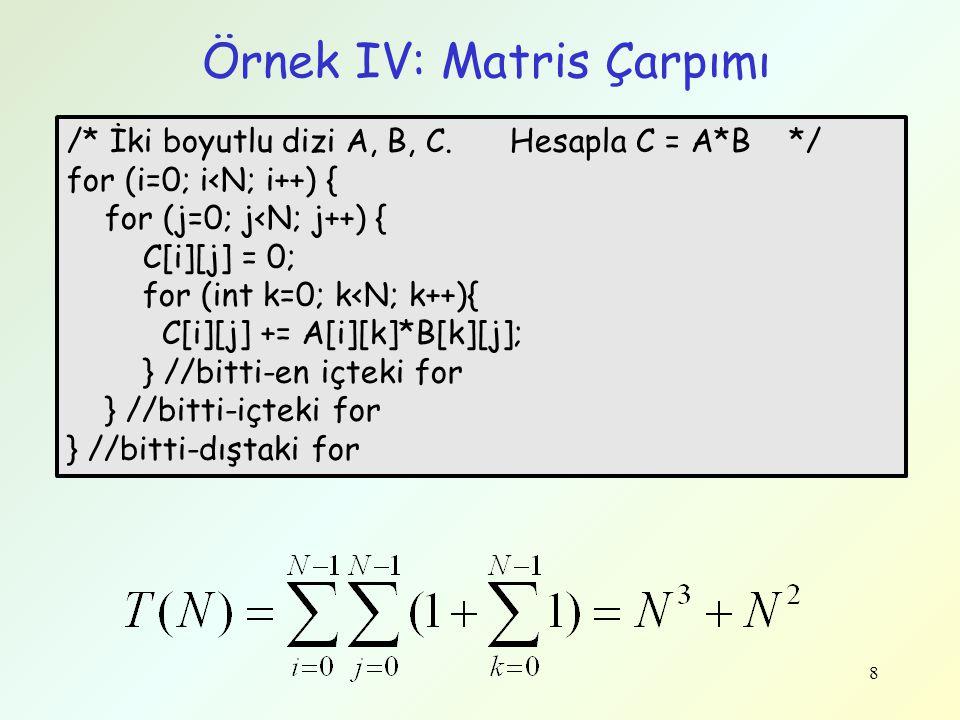 Örnek IV: Matris Çarpımı