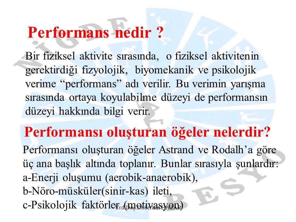 Performans nedir Performansı oluşturan öğeler nelerdir