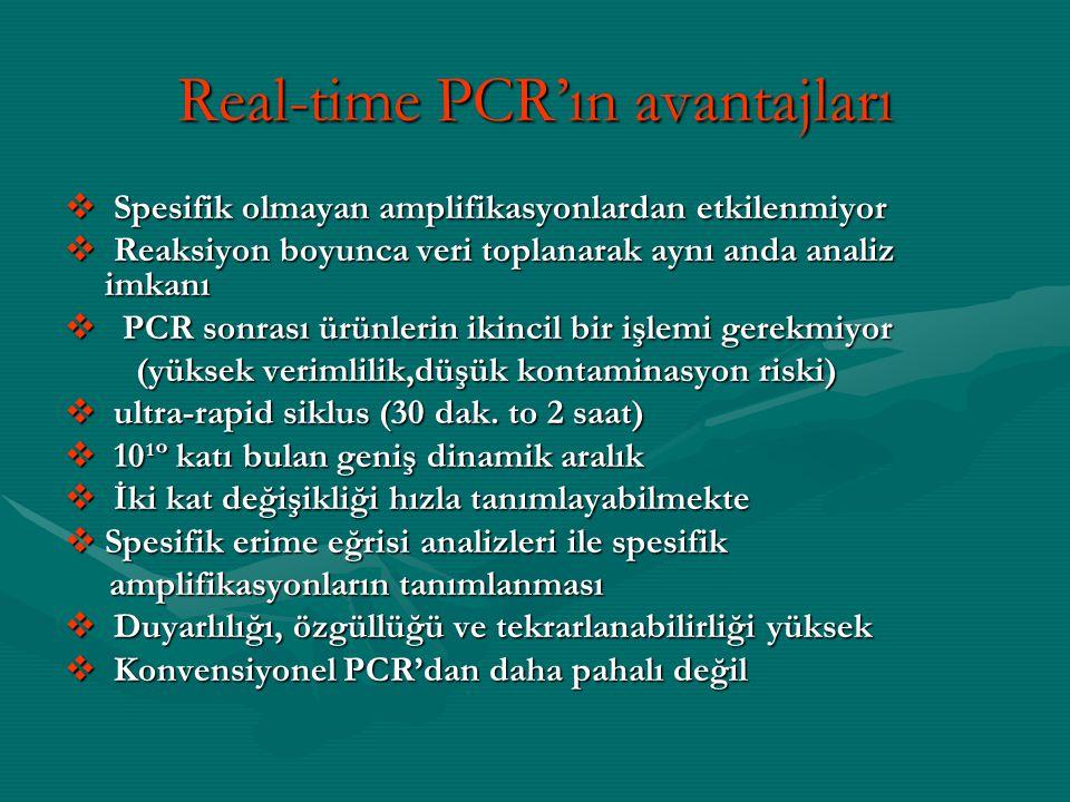 Real-time PCR'ın avantajları