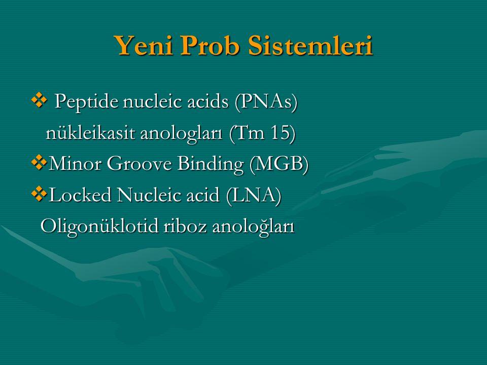 Yeni Prob Sistemleri Peptide nucleic acids (PNAs)