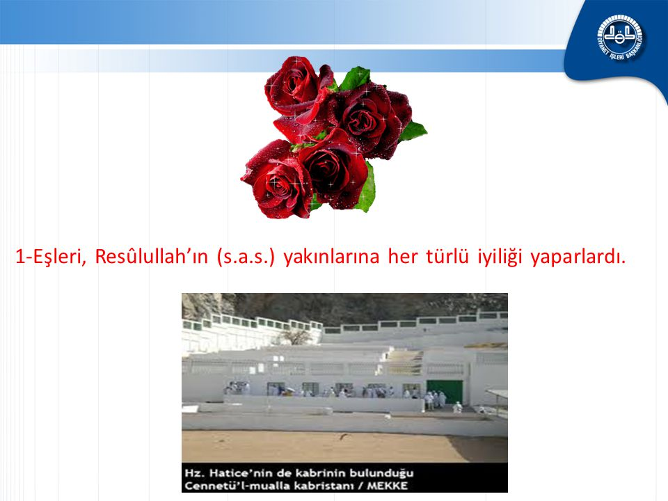 1-Eşleri, Resûlullah'ın (s. a. s