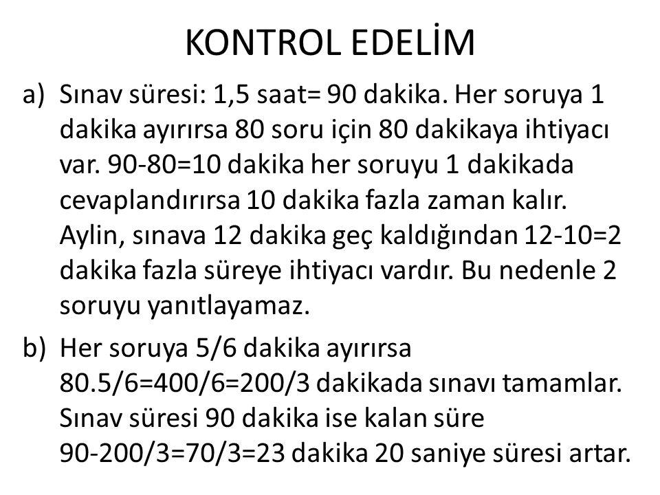 KONTROL EDELİM