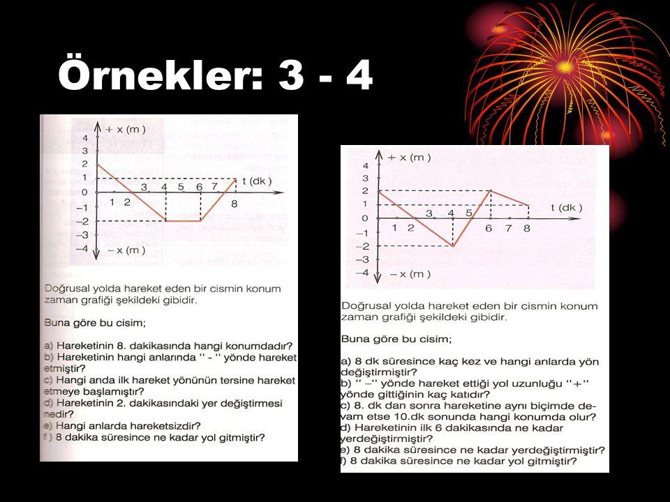 Örnekler: 3 - 4
