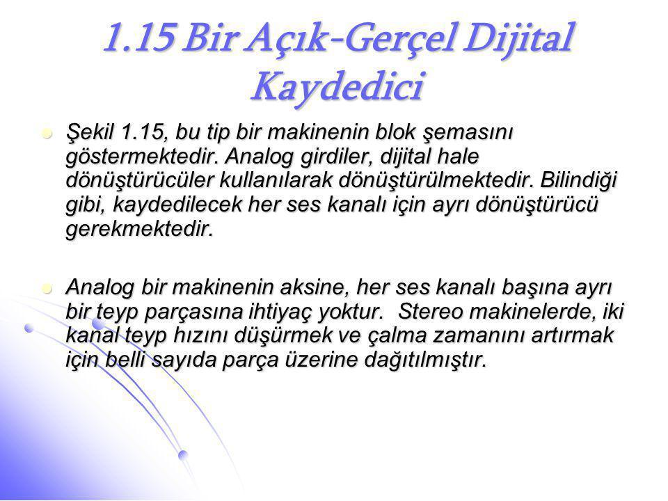 1.15 Bir Açık-Gerçel Dijital Kaydedici