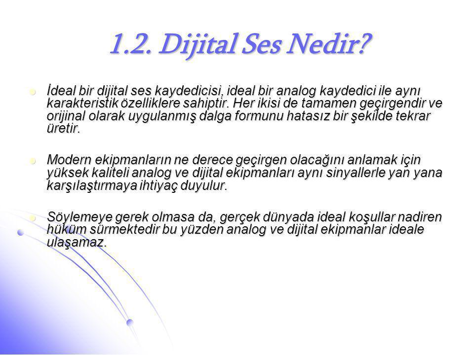 1.2. Dijital Ses Nedir