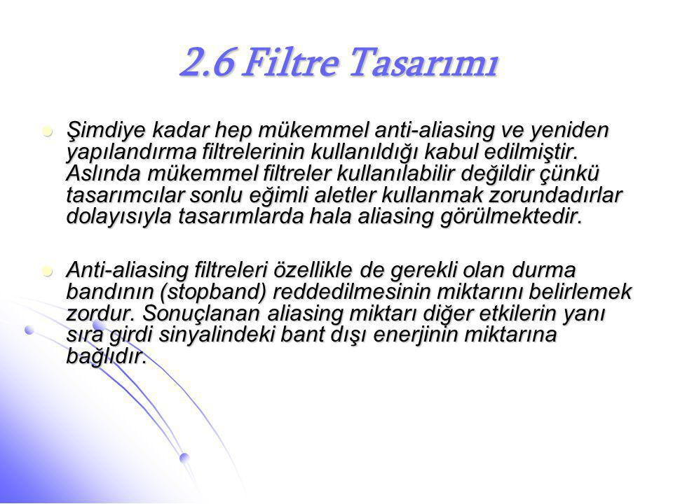 2.6 Filtre Tasarımı