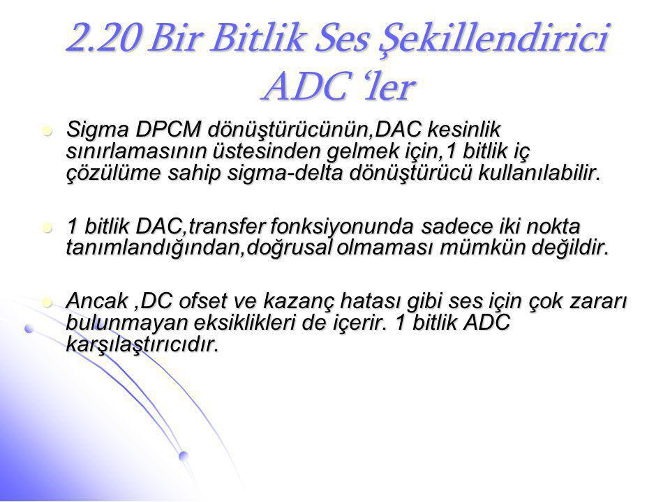 2.20 Bir Bitlik Ses Şekillendirici ADC 'ler
