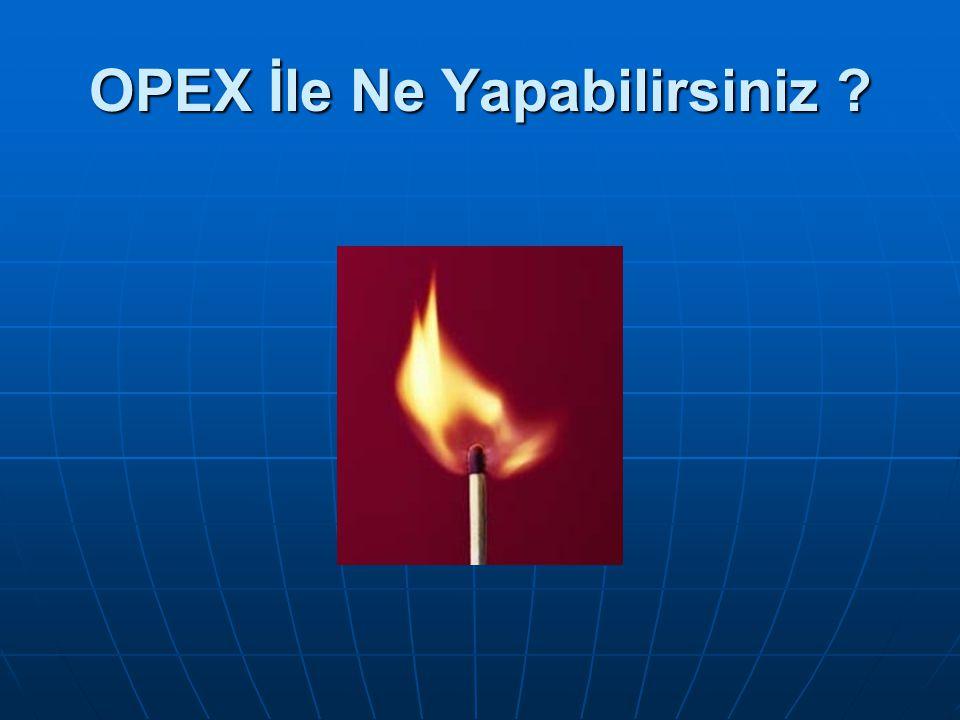 OPEX İle Ne Yapabilirsiniz