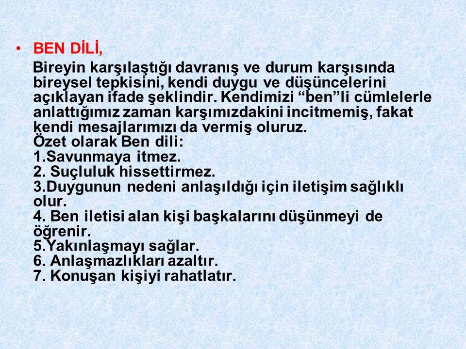 BEN DİLİ,