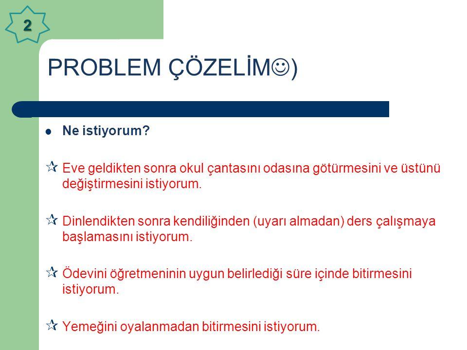 PROBLEM ÇÖZELİM) 2 Ne istiyorum