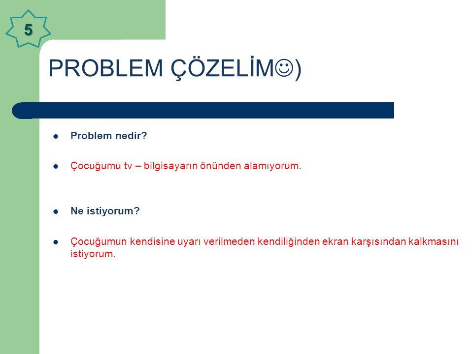 PROBLEM ÇÖZELİM) 5 Problem nedir
