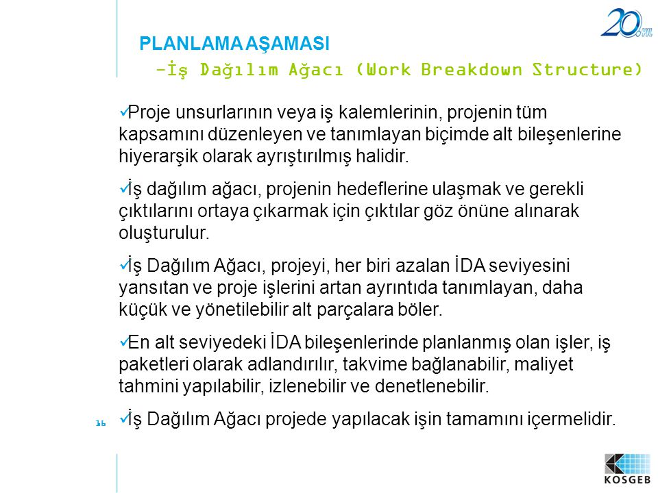 -İş Dağılım Ağacı (Work Breakdown Structure)