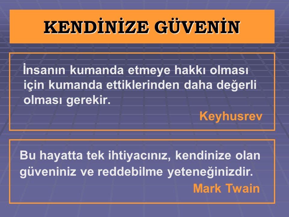 KENDİNİZE GÜVENİN Mark Twain