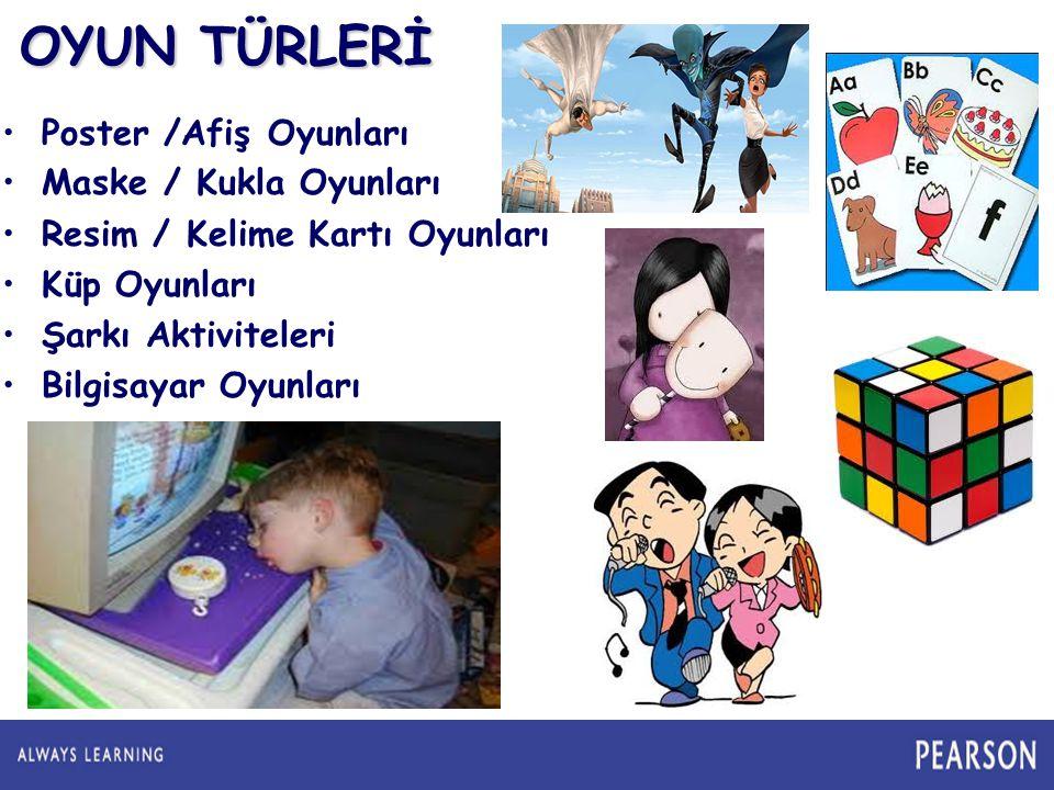 OYUN TÜRLERİ Poster /Afiş Oyunları Maske / Kukla Oyunları