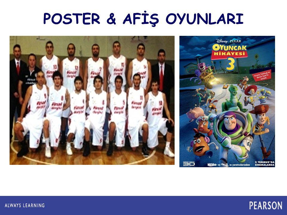 POSTER & AFİŞ OYUNLARI Poster deyince aklımıza ne geliyor Film posterleri Takım Posterleri 7