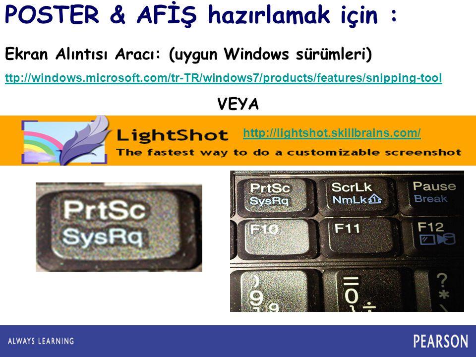 POSTER & AFİŞ hazırlamak için :