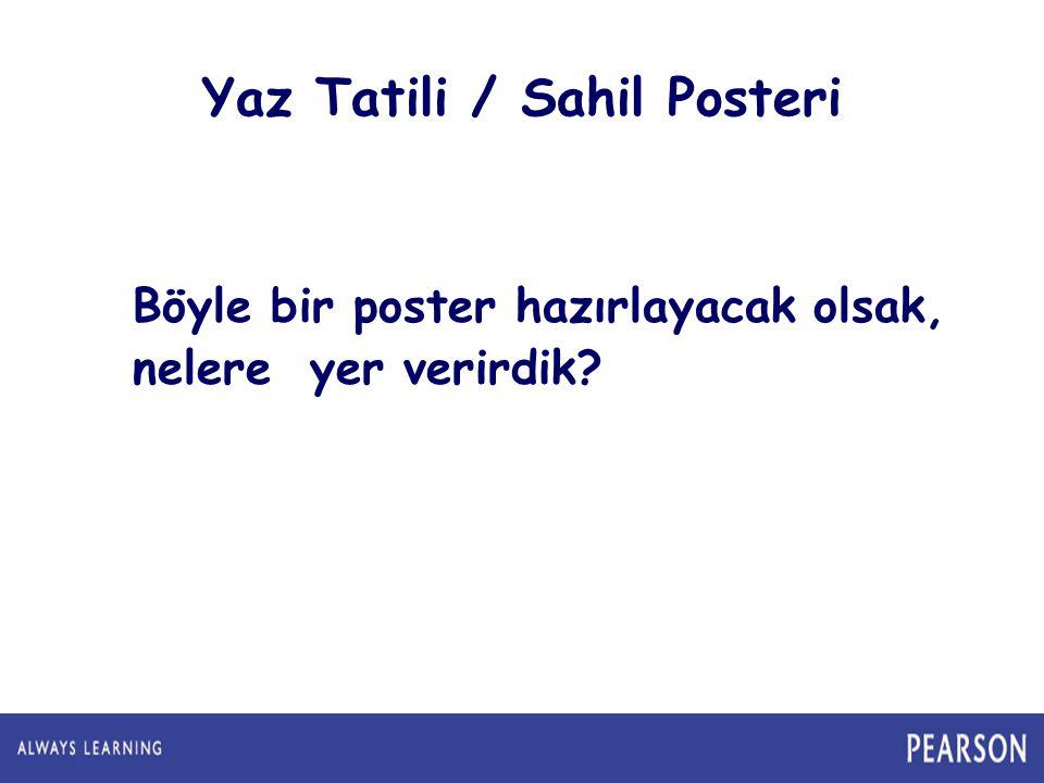 Yaz Tatili / Sahil Posteri