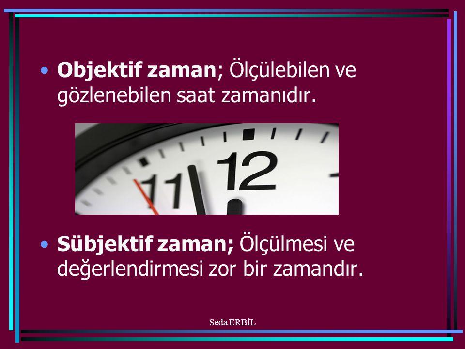 Objektif zaman; Ölçülebilen ve gözlenebilen saat zamanıdır.
