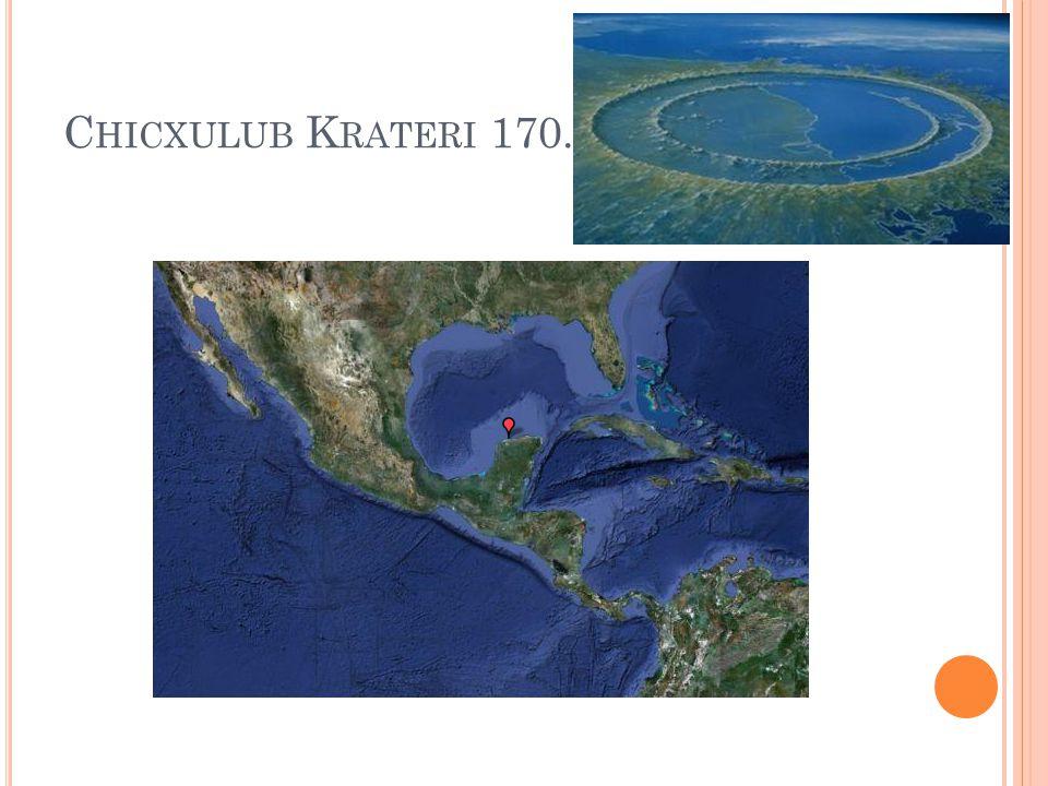 Chicxulub Krateri 170.000 metre çapı