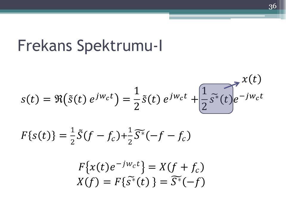 Frekans Spektrumu-I