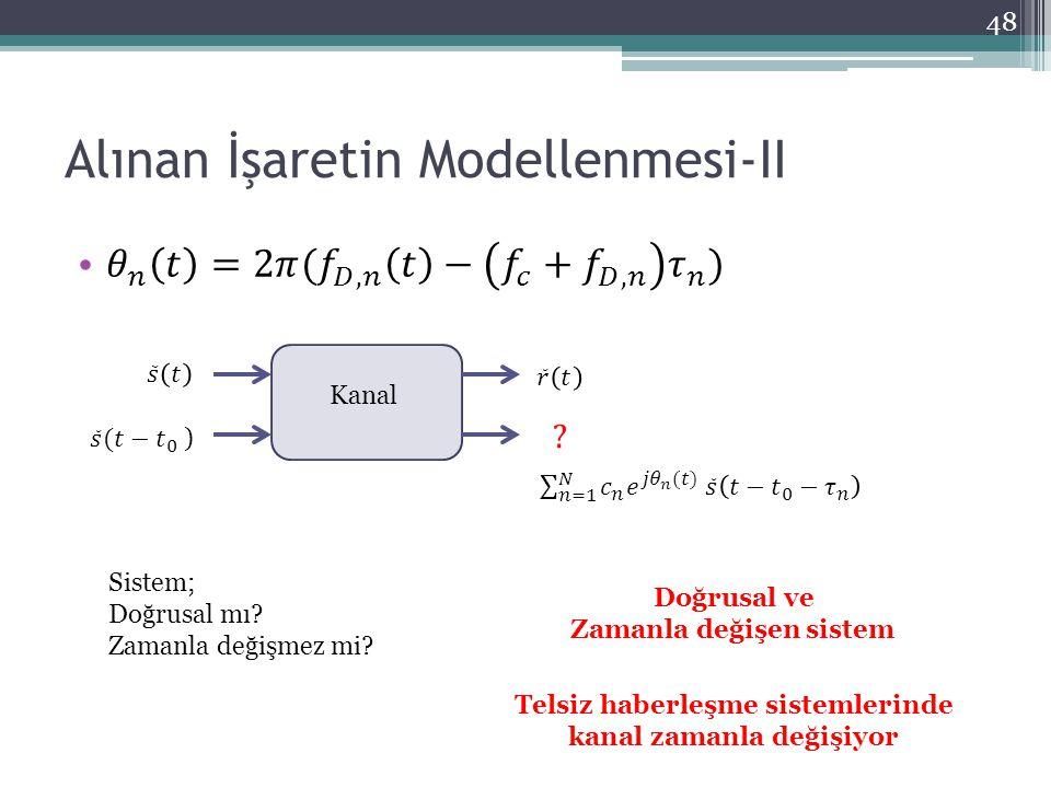 Alınan İşaretin Modellenmesi-II