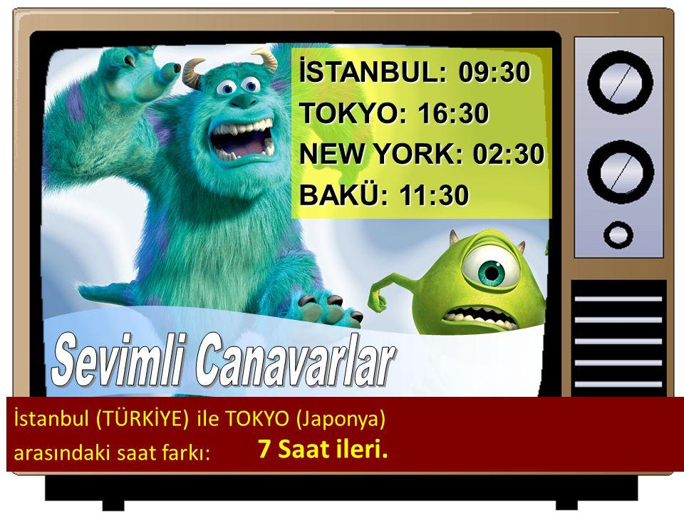 Sevimli Canavarlar İSTANBUL: 09:30 TOKYO: 16:30 NEW YORK: 02:30
