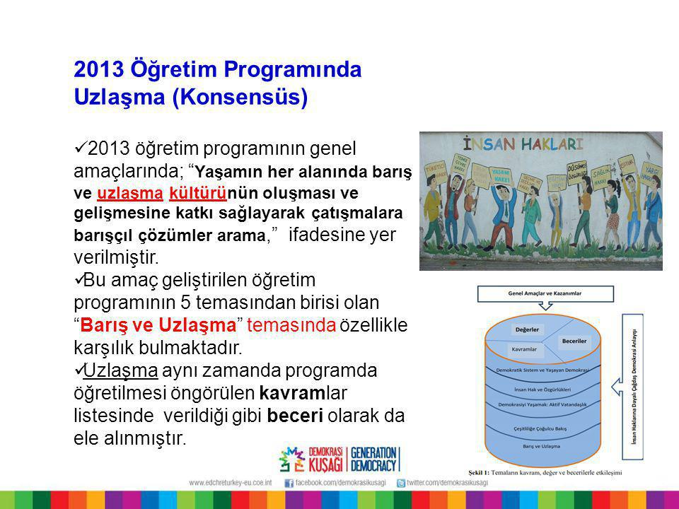 2013 Öğretim Programında Uzlaşma (Konsensüs)